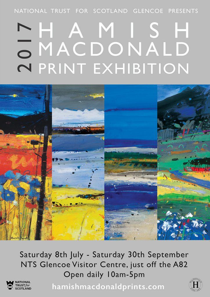 Hamish MacDonald Print Exhibition Glencoe poster 2017