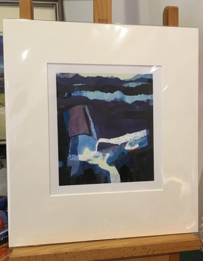 NEW 'Blue Landscape' circa 1969 Estate Stamped Open Edition Print