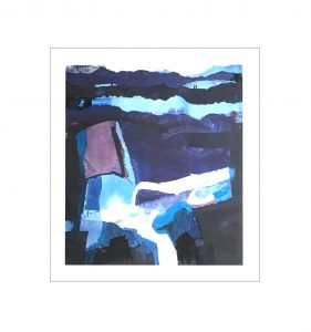 Blue Landscape - mounted