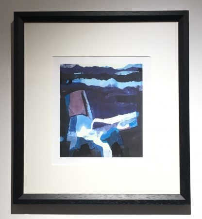 Blue Landscape' framed, Open edition Giclee print